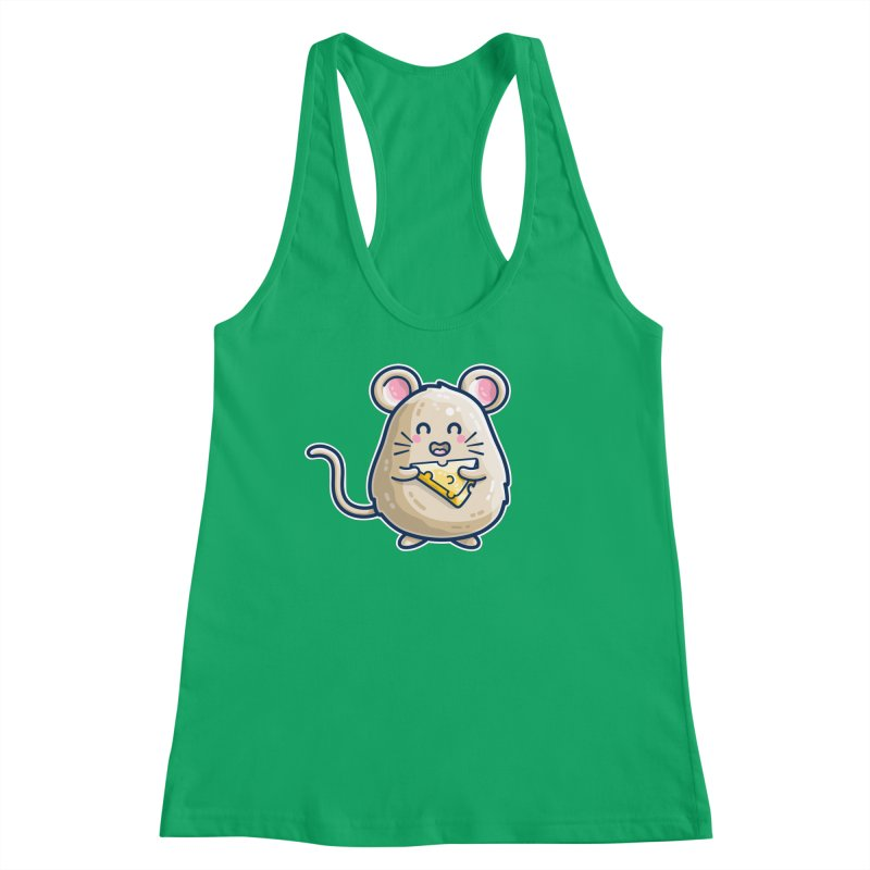 Mouse And Cheese Kawaii Cute Women's Tank by Flaming Imp's Artist Shop