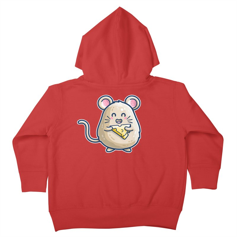 Mouse And Cheese Kawaii Cute Kids Toddler Zip-Up Hoody by Flaming Imp's Artist Shop