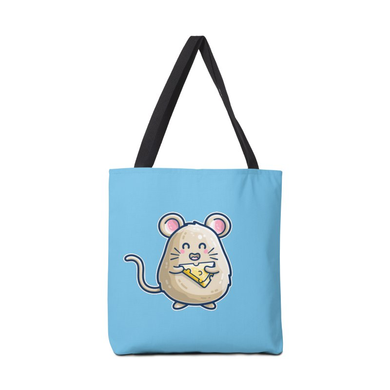 Mouse And Cheese Kawaii Cute Accessories Bag by Flaming Imp's Artist Shop