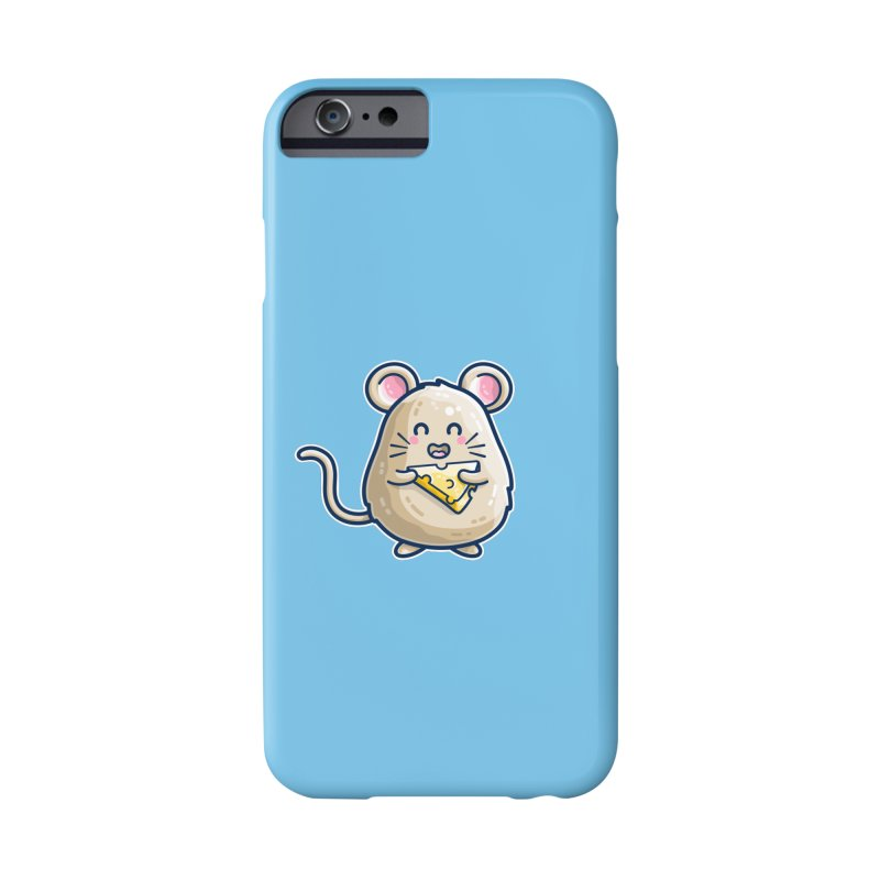 Mouse And Cheese Kawaii Cute Masks + Accessories Phone Case by Flaming Imp's Artist Shop