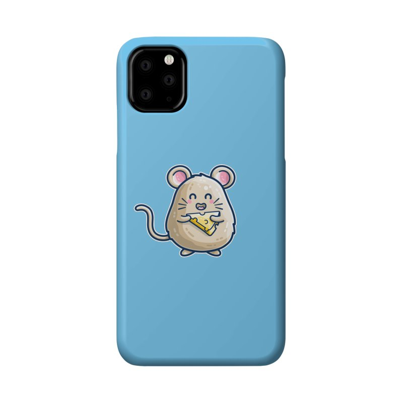 Mouse And Cheese Kawaii Cute Accessories Phone Case by Flaming Imp's Artist Shop