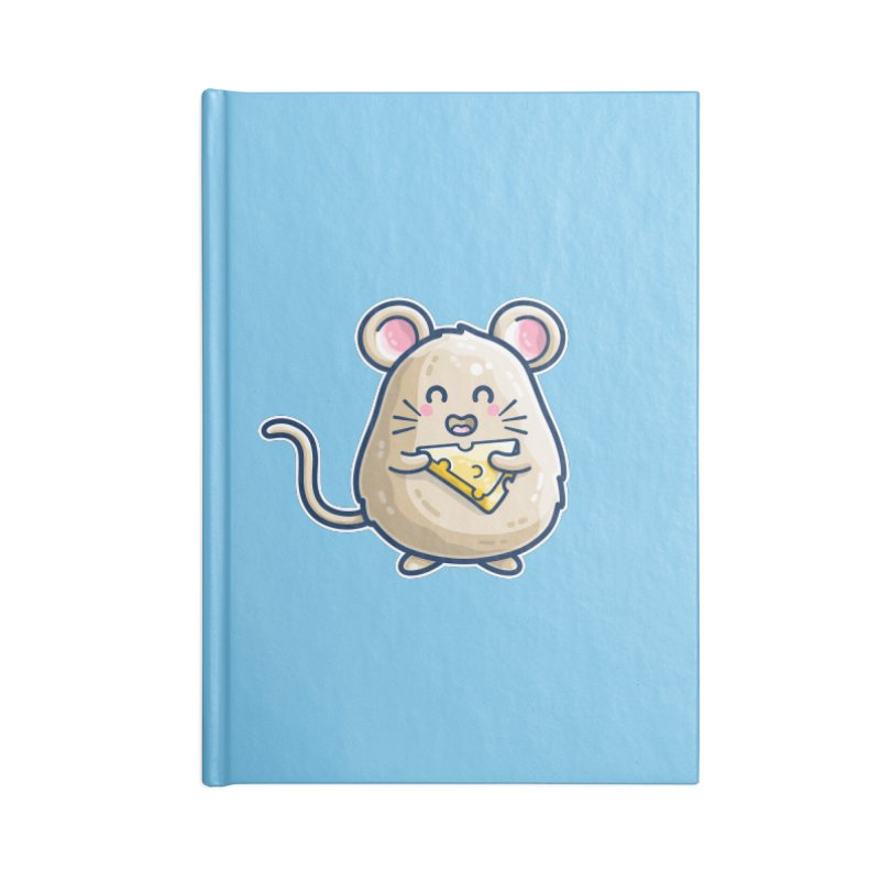 Mouse And Cheese Kawaii Cute Accessories Notebook by Flaming Imp's Artist Shop
