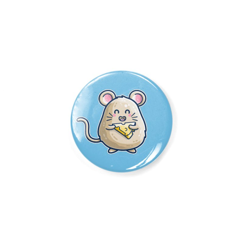 Mouse And Cheese Kawaii Cute Accessories Button by Flaming Imp's Artist Shop