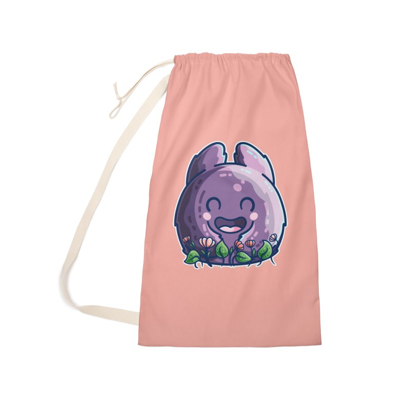Cute Friendly Monster and Flowers Accessories Bag by Flaming Imp's Artist Shop