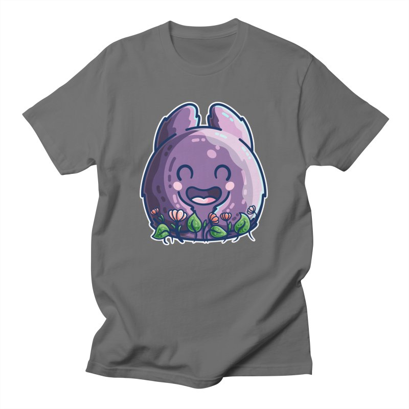 Cute Friendly Monster and Flowers Unisex T-Shirt by Flaming Imp's Artist Shop