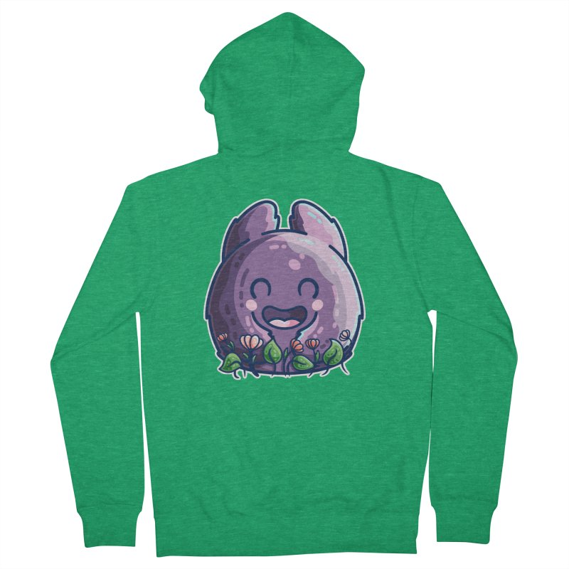 Cute Friendly Monster and Flowers Women's Zip-Up Hoody by Flaming Imp's Artist Shop