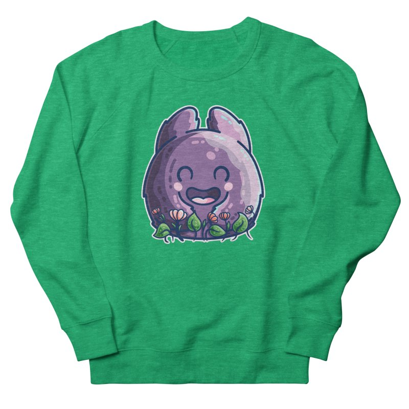 Cute Friendly Monster and Flowers Women's Sweatshirt by Flaming Imp's Artist Shop