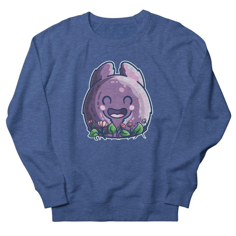 Cute Friendly Monster and Flowers Men's Sweatshirt by Flaming Imp's Artist Shop