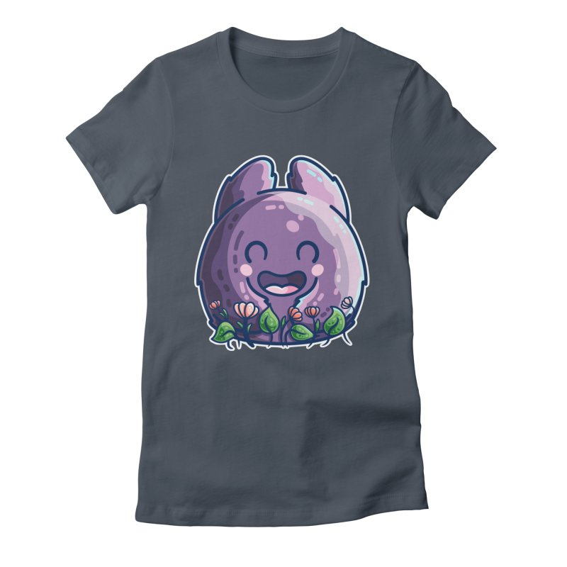 Cute Friendly Monster and Flowers Women's T-Shirt by Flaming Imp's Artist Shop