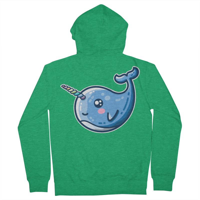 Narwhal With A Rainbow Horn Men's Zip-Up Hoody by Flaming Imp's Artist Shop