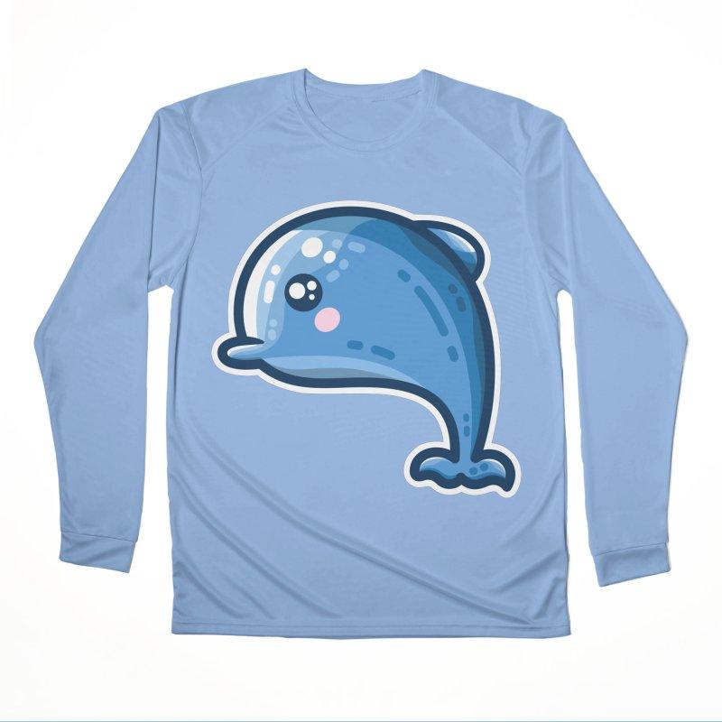 Kawaii Cute Dolphin Women's Longsleeve T-Shirt by Flaming Imp's Artist Shop