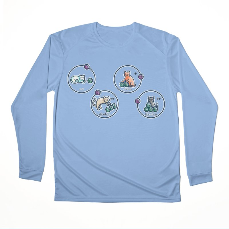Cation Science Pun Women's Longsleeve T-Shirt by Flaming Imp's Artist Shop