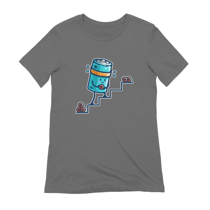 Cute Working Battery Women's T-Shirt by Flaming Imp's Artist Shop