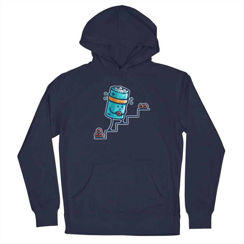 Cute Working Battery Men's Pullover Hoody by Flaming Imp's Artist Shop