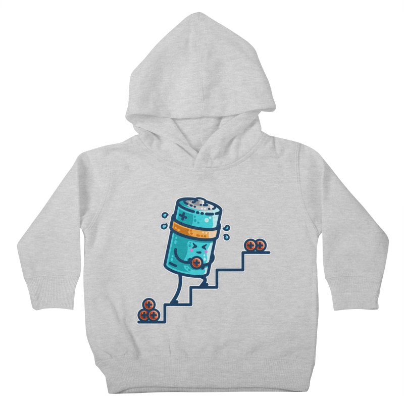 Cute Working Battery Kids Toddler Pullover Hoody by Flaming Imp's Artist Shop