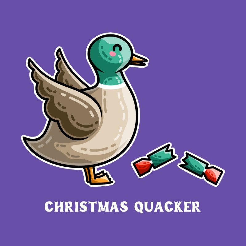Christmas Quacker Pun Accessories Face Mask by Flaming Imp's Artist Shop