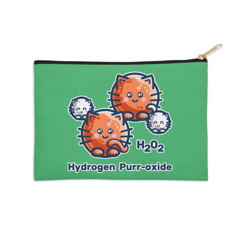 Hydrogen Purr-oxide Cat Chemistry Pun Masks + Accessories Zip Pouch by Flaming Imp's Artist Shop