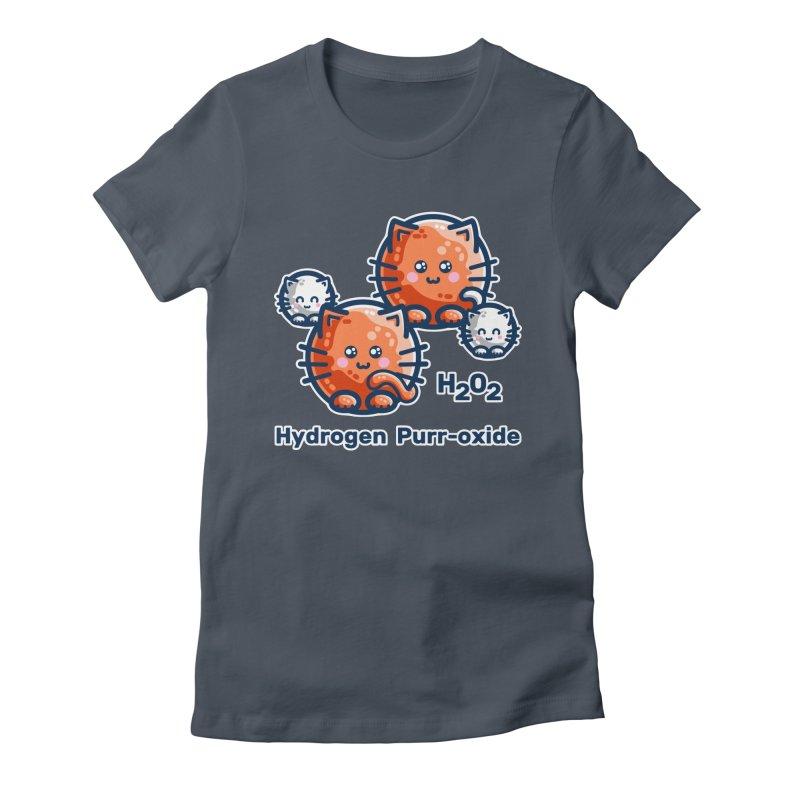 Hydrogen Purr-oxide Cat Chemistry Pun Women's T-Shirt by Flaming Imp's Artist Shop