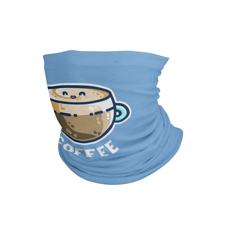Creamy Latte Kawaii Cute Coffee Masks + Accessories Neck Gaiter by Flaming Imp's Artist Shop