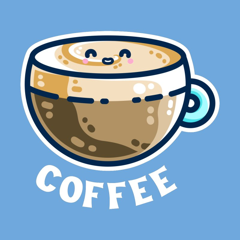 Creamy Latte Kawaii Cute Coffee Women's T-Shirt by Flaming Imp's Artist Shop