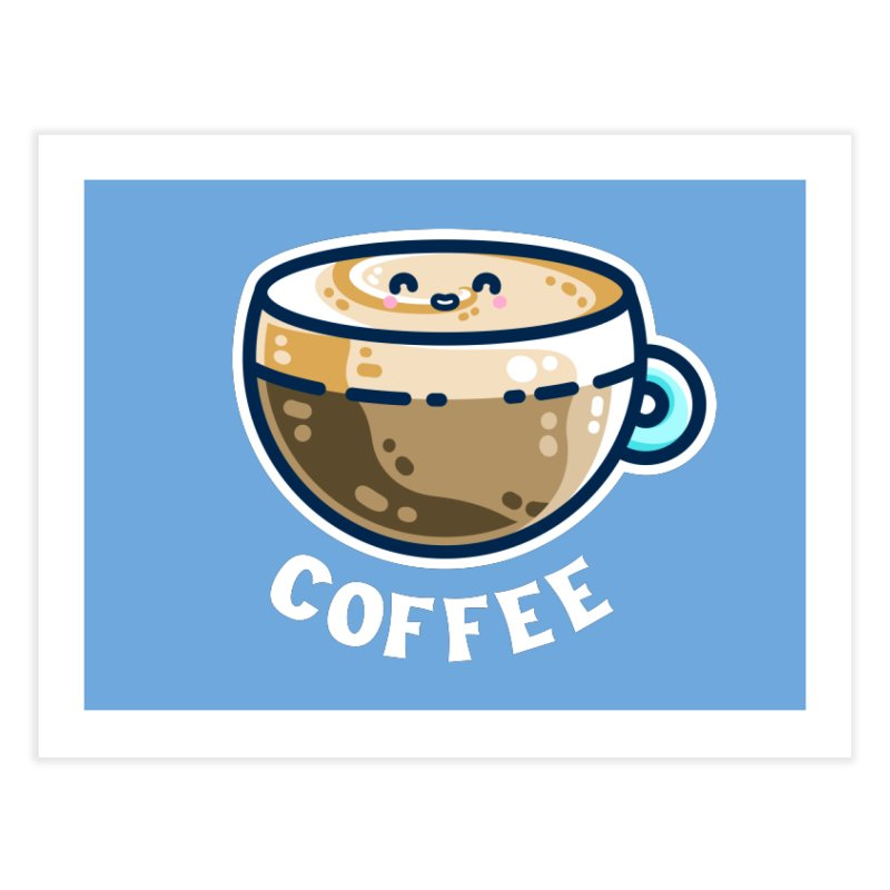 Creamy Latte Kawaii Cute Coffee Home Fine Art Print by Flaming Imp's Artist Shop