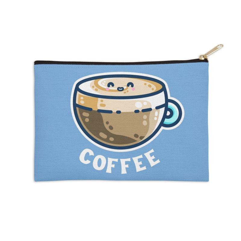 Creamy Latte Kawaii Cute Coffee Masks + Accessories Zip Pouch by Flaming Imp's Artist Shop