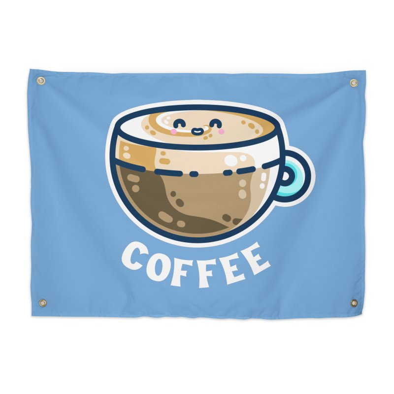 Creamy Latte Kawaii Cute Coffee Home Tapestry by Flaming Imp's Artist Shop