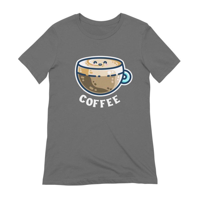 Creamy Latte Kawaii Cute Coffee Women's T-Shirt by Flaming Imp's Artist Shop
