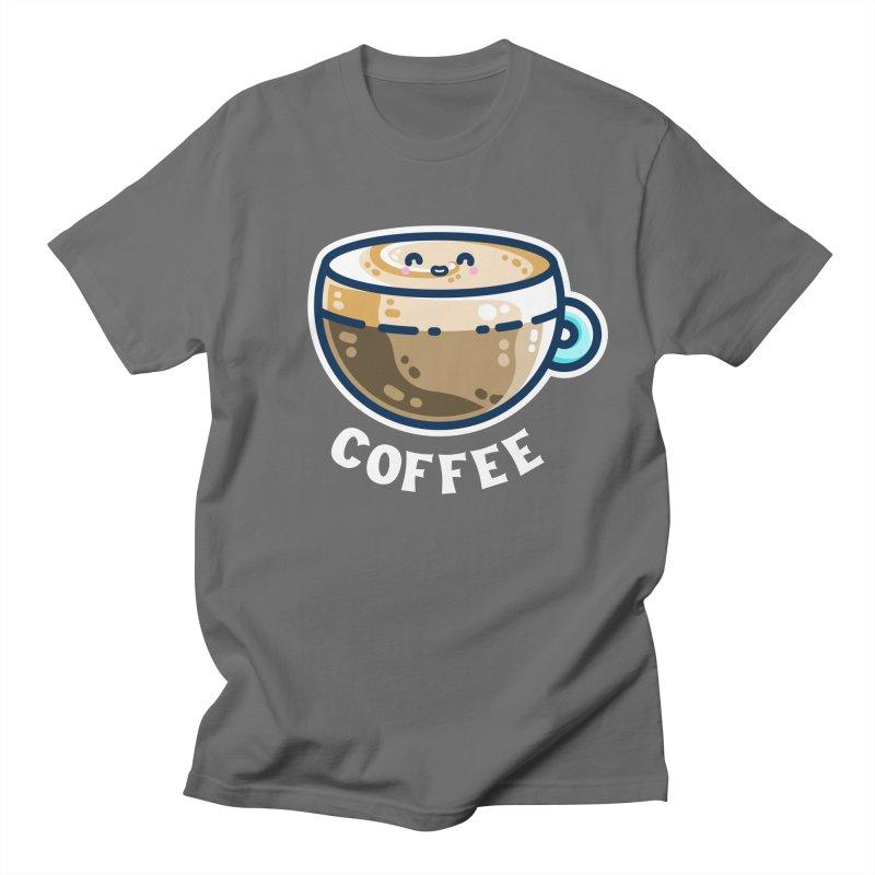 Creamy Latte Kawaii Cute Coffee Men's T-Shirt by Flaming Imp's Artist Shop