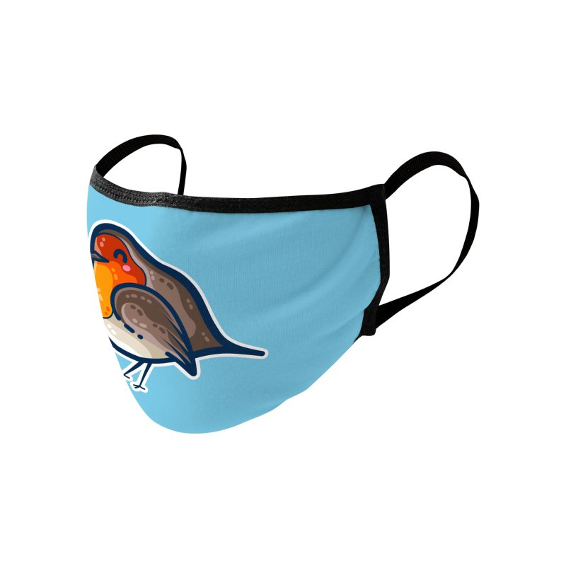 Robin Kawaii Cute Bird Accessories Face Mask by Flaming Imp's Artist Shop