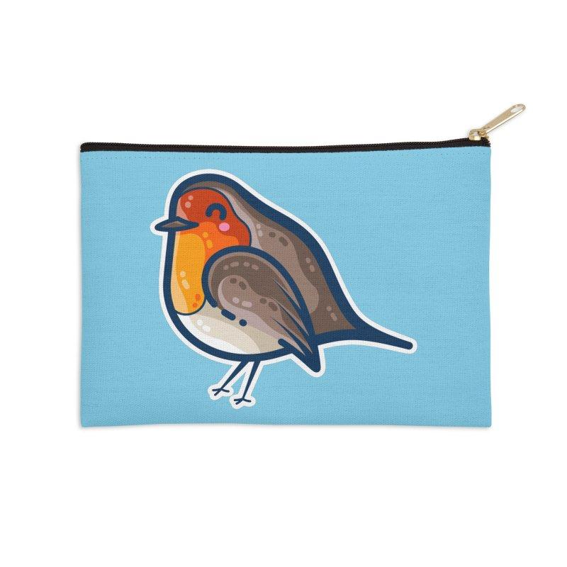 Robin Kawaii Cute Bird Masks + Accessories Zip Pouch by Flaming Imp's Artist Shop