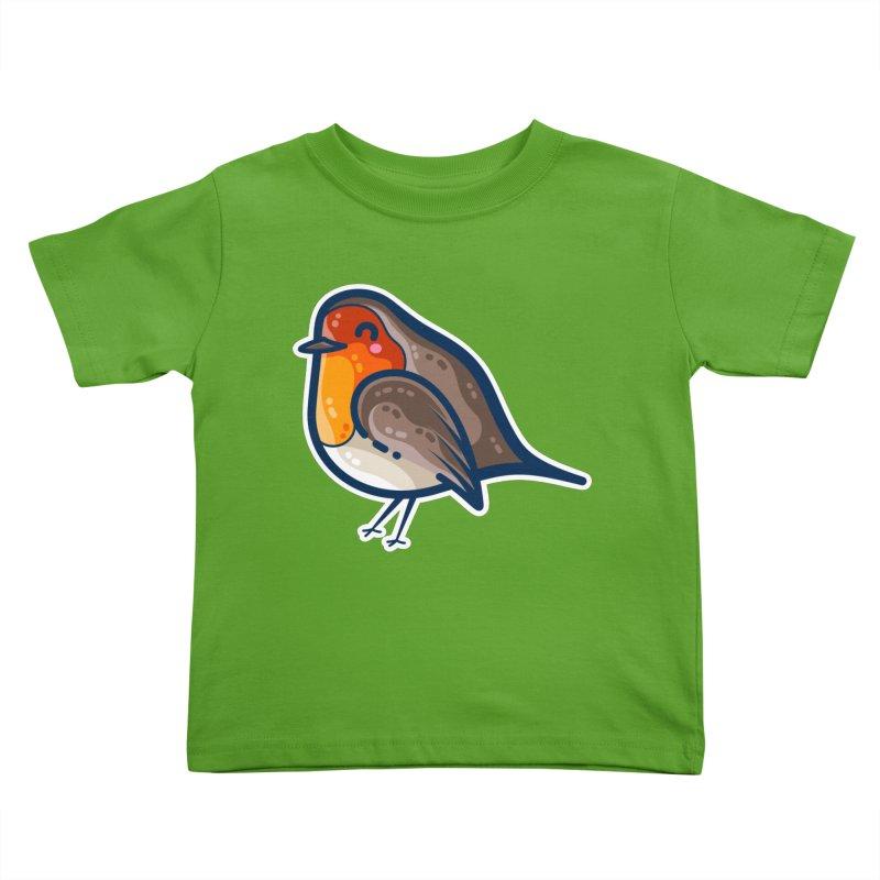Robin Kawaii Cute Bird Kids Toddler T-Shirt by Flaming Imp's Artist Shop