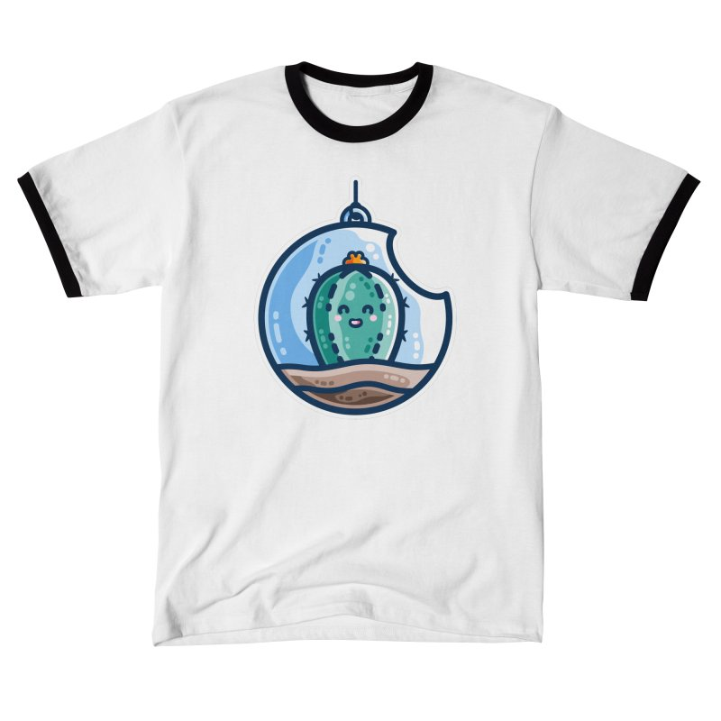 Kawaii Cute Cactus Bauble Fitted T-Shirt by Flaming Imp's Artist Shop