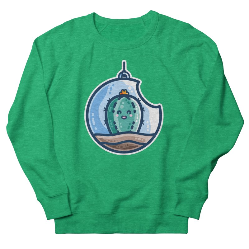 Kawaii Cute Cactus Bauble Fitted Sweatshirt by Flaming Imp's Artist Shop
