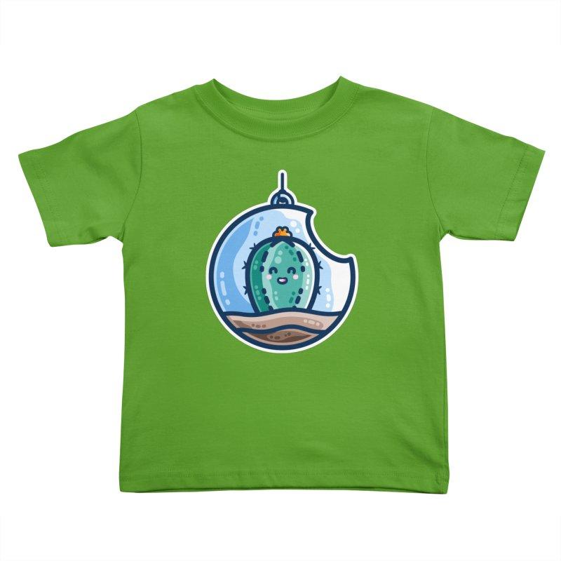 Kawaii Cute Cactus Bauble Kids Toddler T-Shirt by Flaming Imp's Artist Shop