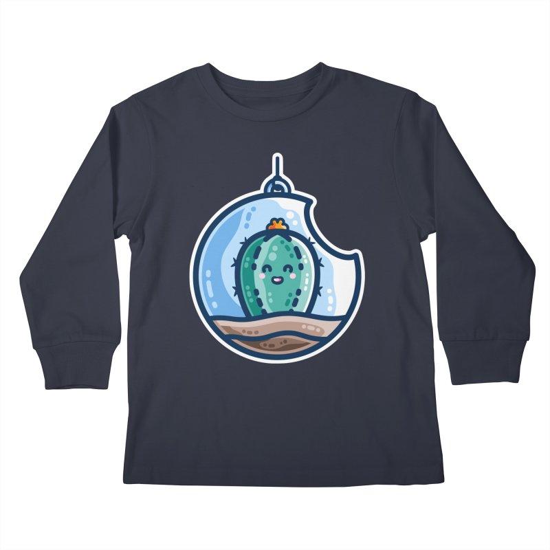 Kawaii Cute Cactus Bauble Kids Longsleeve T-Shirt by Flaming Imp's Artist Shop