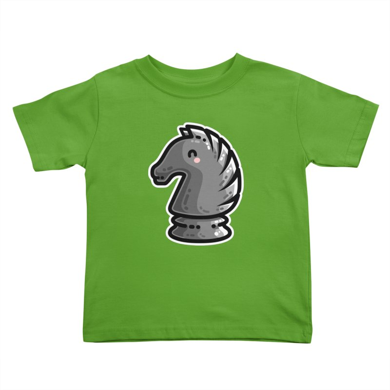 Cute Black Knight Chess Piece Kids Toddler T-Shirt by Flaming Imp's Artist Shop