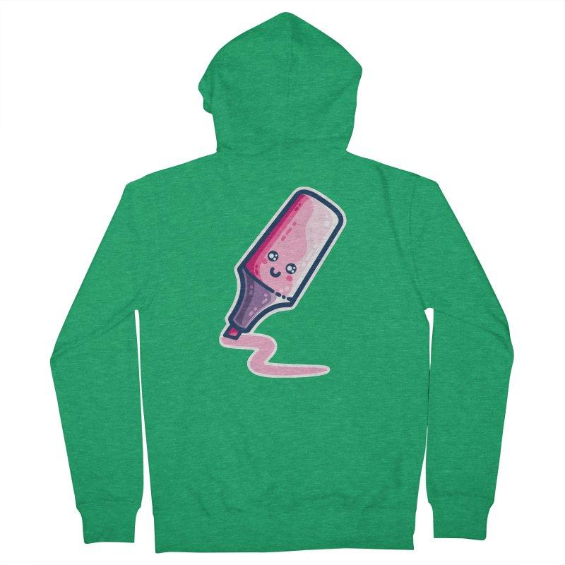 Pink Highlighter Pen Kawaii Cute Unisex Zip-Up Hoody by Flaming Imp's Artist Shop