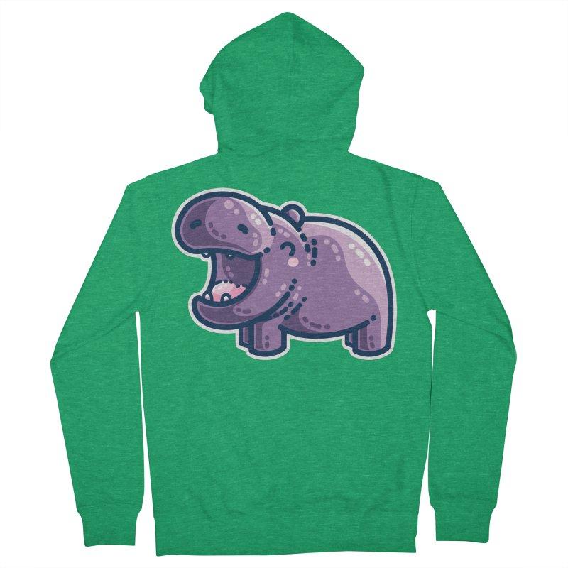 Purple Hippo Kawaii Cute Unisex Zip-Up Hoody by Flaming Imp's Artist Shop
