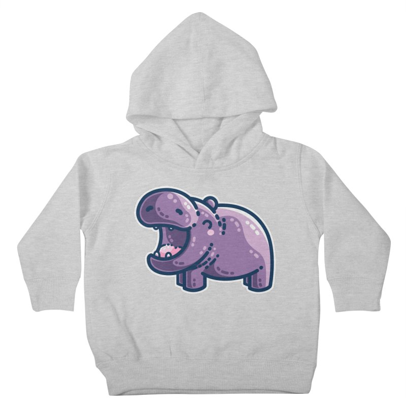 Purple Hippo Kawaii Cute Kids Toddler Pullover Hoody by Flaming Imp's Artist Shop