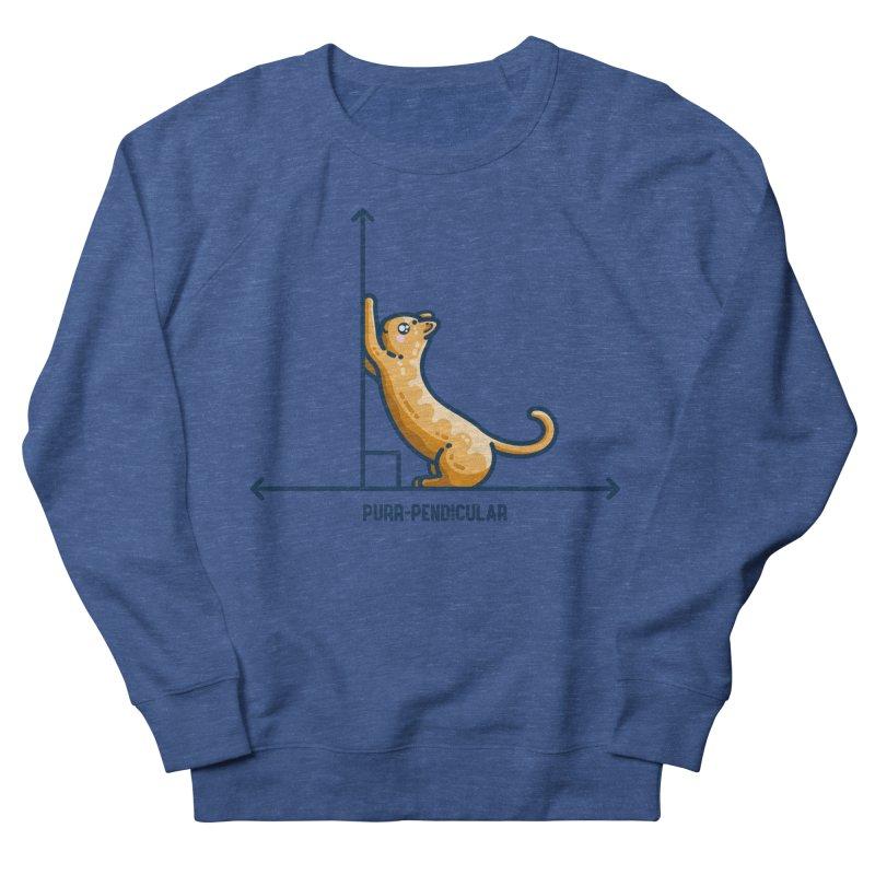 Purr-pendicular Kawaii Cute Cat Maths Pun Unisex Sweatshirt by Flaming Imp's Artist Shop