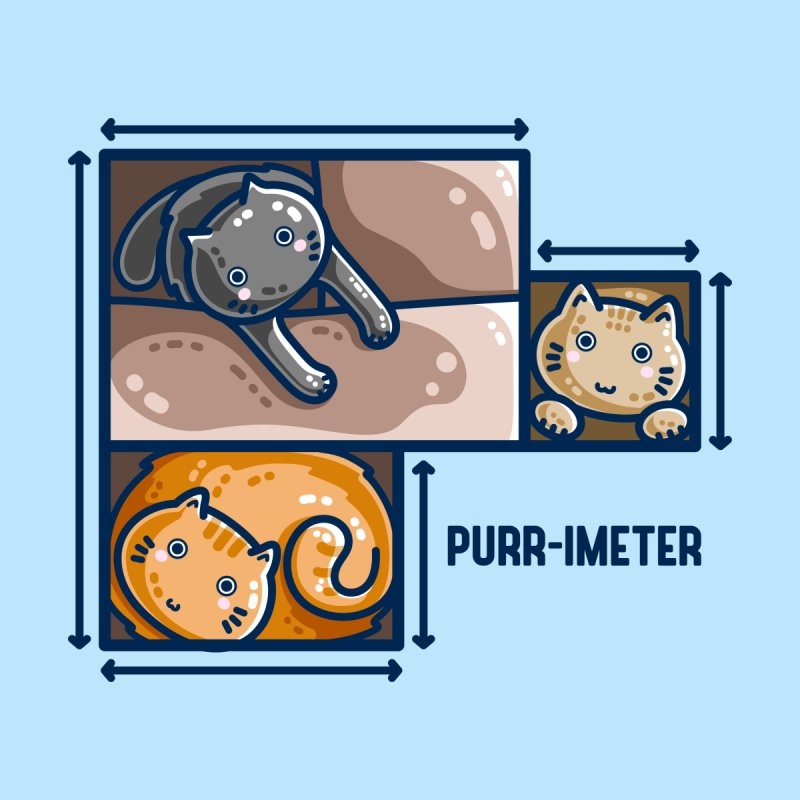 Purr-imeter Maths Cat Pun Unisex T-Shirt by Flaming Imp's Artist Shop