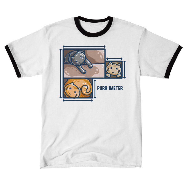 Purr-imeter Maths Cat Pun Fitted T-Shirt by Flaming Imp's Artist Shop