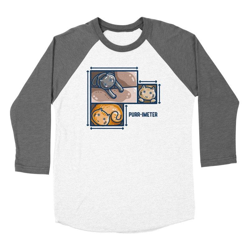 Purr-imeter Maths Cat Pun Fitted Longsleeve T-Shirt by Flaming Imp's Artist Shop