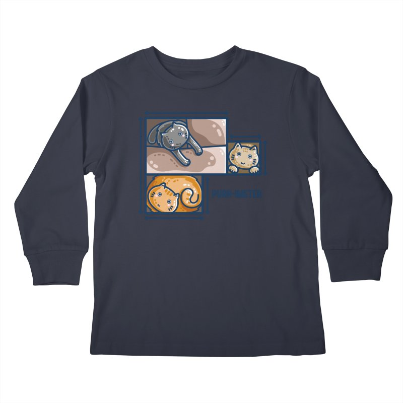 Purr-imeter Maths Cat Pun Kids Longsleeve T-Shirt by Flaming Imp's Artist Shop
