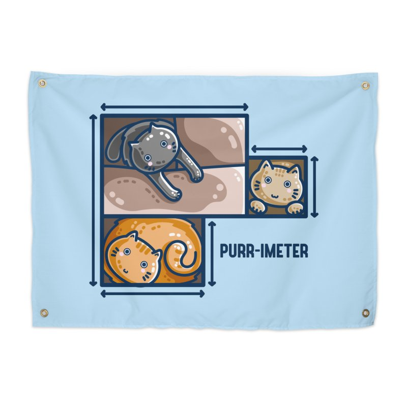 Purr-imeter Maths Cat Pun Home Tapestry by Flaming Imp's Artist Shop