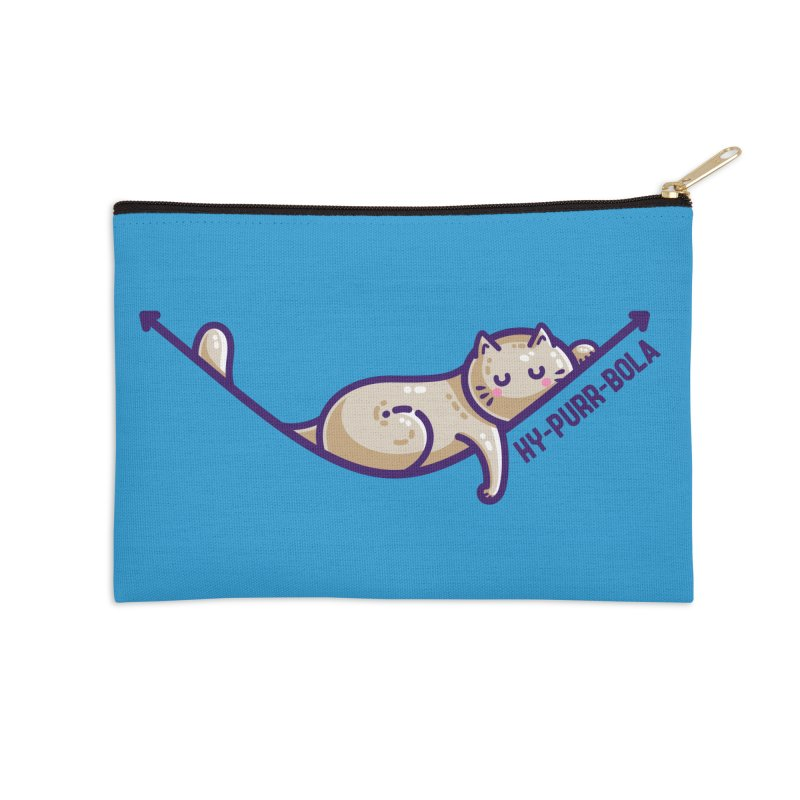 Hy-purr-bola Hyperbola Maths Cat Pun Masks + Accessories Zip Pouch by Flaming Imp's Artist Shop