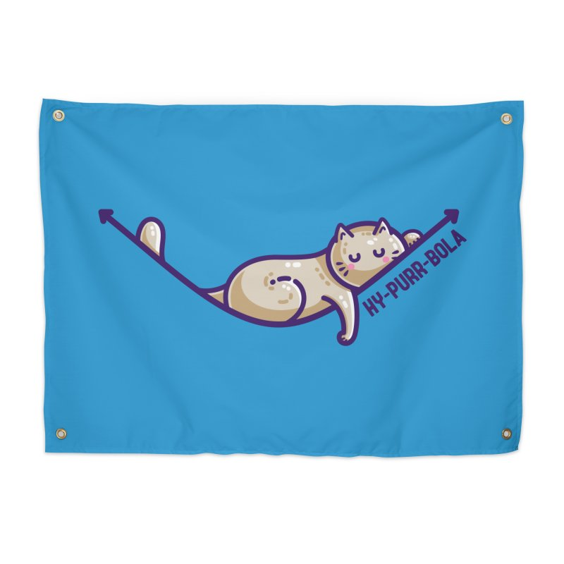 Hy-purr-bola Hyperbola Maths Cat Pun Home Tapestry by Flaming Imp's Artist Shop