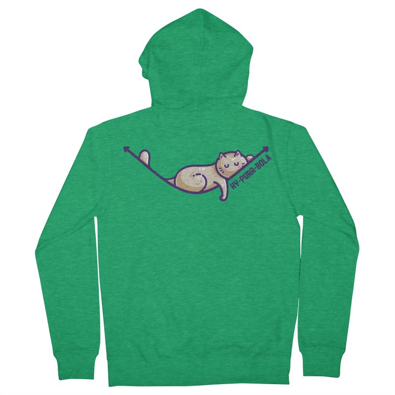 Hy-purr-bola Hyperbola Maths Cat Pun Unisex Zip-Up Hoody by Flaming Imp's Artist Shop