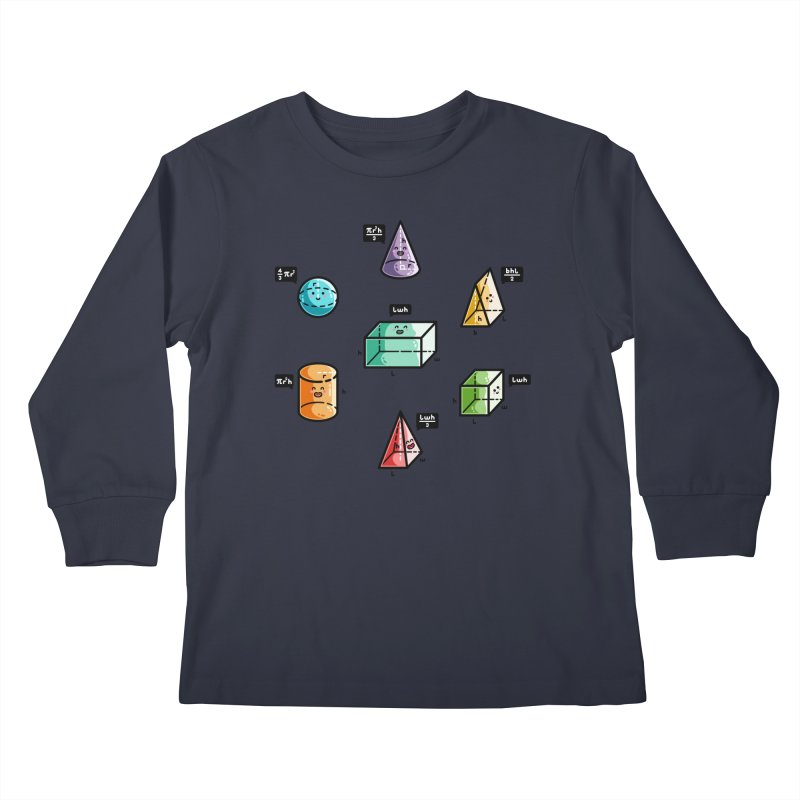 Speaking Volumes Maths Pun Kids Longsleeve T-Shirt by Flaming Imp's Artist Shop
